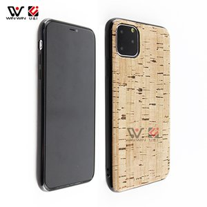 Shock proof Phone Cases For iPhone 6 7 8 Plus 11 12 Pro X Xs Xr Max Natural Cork TPU Non-slip 2021 Fashion Back Cover Shell