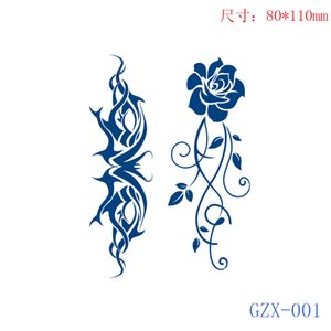 TS005 mini 8x11cm Temporary Tattoo Stickers Waterproof for women girl kids body Arm Clavicle Disposable makeup sticker