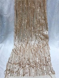 Ribbon African Lace Fabric With Sequins 2021 Latest High Quality Velvet Tulle For Dress J5Y