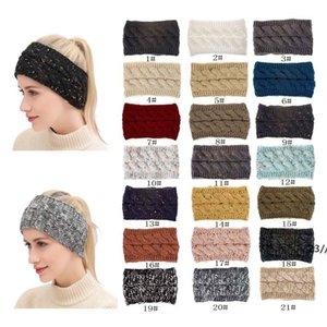 21 Colors Knitted Twist Headband Women Winter Sports Ear Warmer Head Wrap Hairband Fashion Hair Accessories ZZD11042