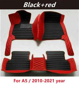 Для Audi A5 / 2010-2021 год Пользовательские автомобильные коврики для сращивания напольных покрытий Водонепроницаемые кожаные износостойкие нетоксичные безвкусные и экологически чистые коврики для ног