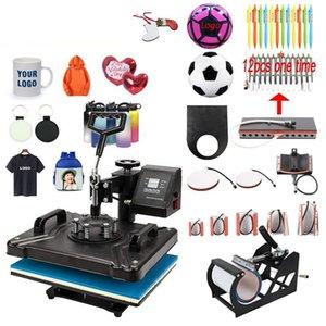 2021 12 In 1 Combo Heat Press Machine,Sublimation Heat Press,Heat Transfer Machine For Mug Cap Tshirt Phone cases pen keychain ball