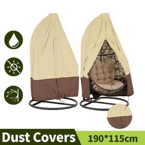 Garden Outdoor Hanging Egg Chair Dust Cover Swing Chair Rain Shelter Furniture Cover Waterproof UV Resistant Garden Swing Covers