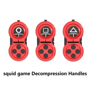 squid game Decompression Handles Cube Fingertip Toys Pressure Reliever Games Controller Buttons Decompress Children Toy new