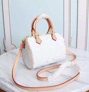 Wholesale satchel Canvas genuine leather lady messenger phone purse fashion nano pillow shoulder bag handbag 61252