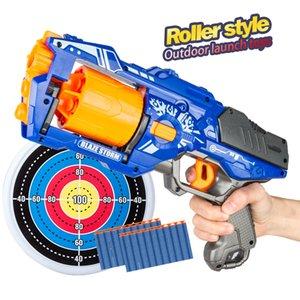 2021 New Arrival Rotate Barrel Manual Soft Bullet Gun Suit for Nerf Bullets Toy Pistol Gun Dart Blaster Toys for Children