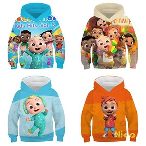 4-14Y Kids Chidlren Cocomelon Cartoon Hoodies 2021 Tiktok Long Sleeve Hooded Sweater Sweat Shirt Autumn Sports Outdoor Casual Pullover Tops Clothing G77DJVF