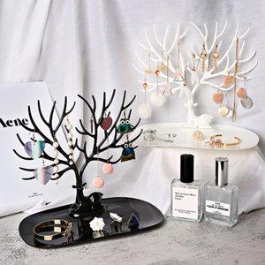Bijoux Deer Tree Stand Afficher Organisateur Collier Boucle d'oreille Porte-bijoux Bijoux 1016 Q2