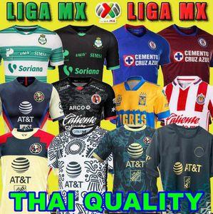 20 21 22 22 Mexico Club America Cruz Azul Soccer Jersey 2021 2022 Guadalajara Chivas Tijuana Unam Tigres Casa Away Third Liga MX Camicie da calcio Santos Laguna Leon