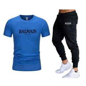 2021 Uomini Casual Tracksuit set felpa manica corta T-shirt T-shirt da jogging Sport Suit Streetwear Streetwear Plus Size S-XXL