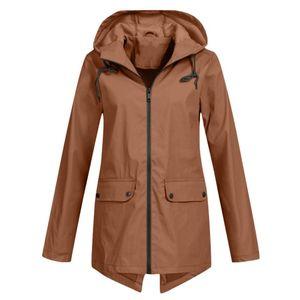 Women's Trench Coats Women Jackets Waterproof Clothing Zipper Hooded Lightweight Raincoat Jacket Thin Outdoor