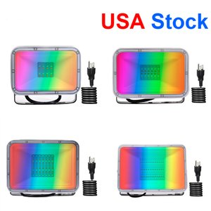 Outdoor Lighting LED Floodlights 20W 30W 50W 100W AC110V RGB US Plug Memory Function 16 Colors 4 Models