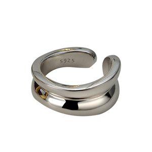 Homemade 925 Sterling Silver Ring Korean Niche Designer Brillpiece Retro Temperament Wild Adjustable S
