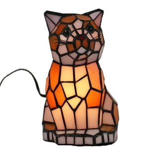 Table Lamps Tiffany Series Home LED Creative Animal Night Light Personality Bedroom Bedside Study Room Small Lamp E14 AC110V 220V