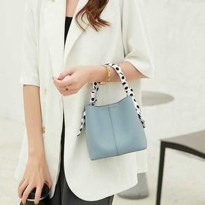 summer shopping mall small fresh texture litchi pattern bucket silk scarf portable one shoulder messenger bag for women purse