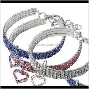 Apparel Heartshaped Rhinestone Small Collar Cat Crystal Necklace Pet Supplies Dog Accessories Jdvpz 9Htlp