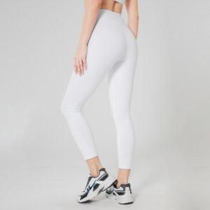 Чистый белый цвет женские спортивные важные высокие талии шорты упражнения леггинсы женские сжатия йоги леггинсы бегущие бедра