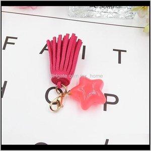 Arts And Crafts 5Pc Lot Fashion Mini Star Tassel Jewelry Curtain Garments Decorative Accessories Key Bag Hand Catenary Pendant Craft T Z90Lr