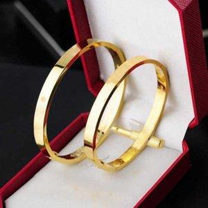 Bracelete de desenhista por atacado amor mulher moda s senhoras de prata Rose Gold Bangle Homens Diamante de Luxo Jóias Mulheres Homens com Bag Grrf