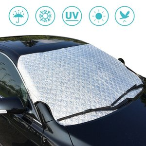 Universal PVC Fabric Half Windshield Snow Summer Sunshade Cover Frost Winter Wind Protector Car Shield 190X 95cm