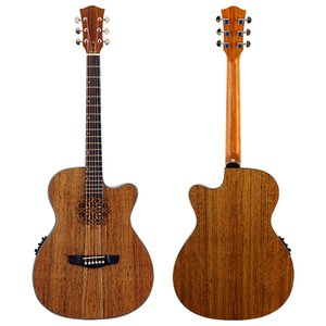 2021 6-string electric guitar, with sound hole, 40 inch eq spruce wood cover, folk guitar for beginners hickory laminated woo d freeshipping