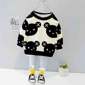 Hylkidhuose Toddler Ropa infantil 2021 Spring Baby Girls Ropa Sets Lindo oso camiseta pantalones niños niños ropa casual x0401