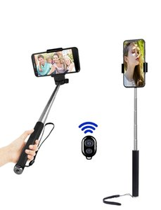 Selfie Monopods Stick Battery Remote Control Bluetooth-compatible Shutter Monopod Tripod For Smartphone Action Camera