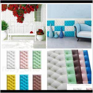Décor Garden Drop Delivery 2021 3060Cm Xpe Foam Diy Pu Waterproof Panels For Kids Room Self Adhesive Kindergarten Wall Stickers Home Decor Rr