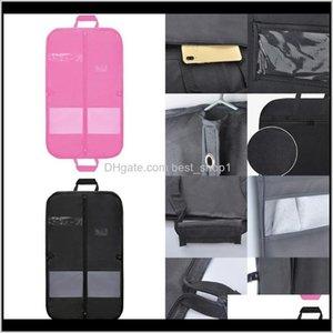 Storage Bags Mens Travel Business Suit Dress Bag With Clear Window Zipper Pocket Long Garment Cover Drop 91938 Efm2Q 1Hcji