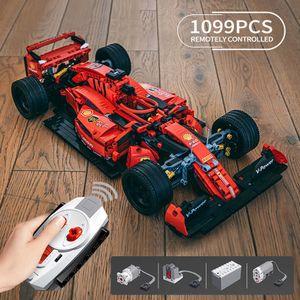 Creator Expert Famous RSR Super Racing Car F1 GTE Sports Vehicle Building Blocks Moc Model Modular Bricks Technical Boys Toys Q0624