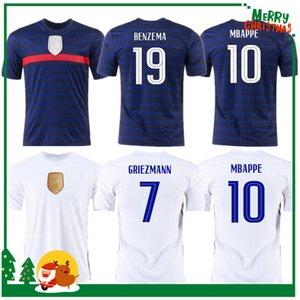 Euro 2021 Cup Benzema Mbappe Griezmann Soccer Jersey Pogba Giroud França Kante Maillot de Pé Equipe Maillots Camisa de Futebol Fardos La Men + Kids Kit
