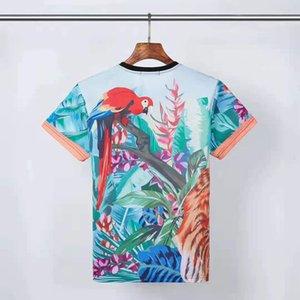 2021Fashion Erkek Desen Baskı T Shirt Siyah Erkek Kadınlar Yüksek Kalite Kısa Kollu Tees S-XL