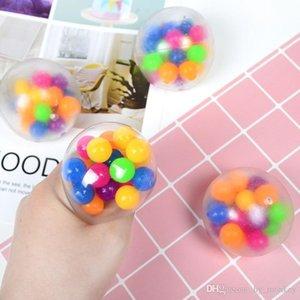Dedos sensoriales Juguetes 6 cm Color Bola Bola TPR Caucho suave descompresión Discomensión Juguete Amasamiento Autismo Ansiedad Estrés Alivio H33HRJ7