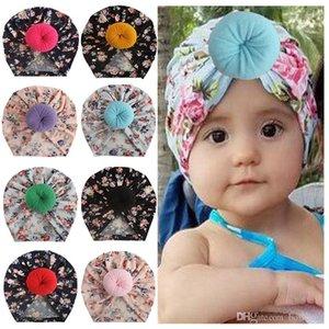 الرضع الطفل القبعات 8 تصميم المطبوعة الشتاء الأطفال قبعات الوليد الفتيات قبعات بنين العمامة قبعة الفتيات كاب 07
