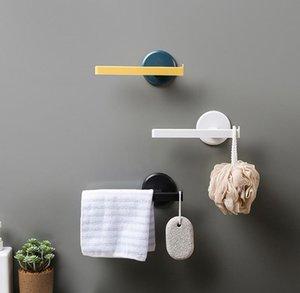 Towel Racks Aan Modern Style Matte Black Wall Mounted Single Bar Bathroom Hanger Shelf Accessories Holder