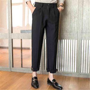 Mens Black Dress Pants Korean Streetwear Trousers for Men Casual Loose Fit Perfume Masculino Pantalon Costume Homme 2020 Spring