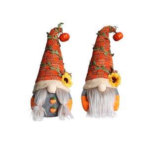 Party Supplies Halloween Thanksgiving Fall Harvest Festival Decoration Gnomes with Pumpkin Plush Elf Dwarf Doll Home Desktop Ornaments
