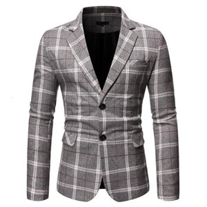 JAYCOSIN Blazer Male Men's New Stylish Casual male suit Plaid Business Wedding Party Suit Tops wedding for men 2020