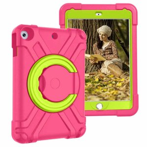 Kids Case for iPad 10.2 Inch  8th  7th Generation Dual Layer Shockproof Rugged Protective Cover with Rotating Stand