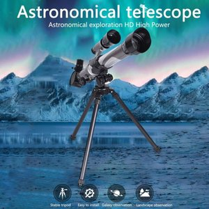 Monocular Astronomical Telescope Refractive Space Outdoor Travel Spotting Scope With Tripod 20x 30x 40x Eyepiece#0