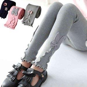 girl Kids Autumn warm Cotton stretch Leggings Skinny Clothing Trouser Pants 3 5 7 8 9 10 11 12 Years Children's Wear