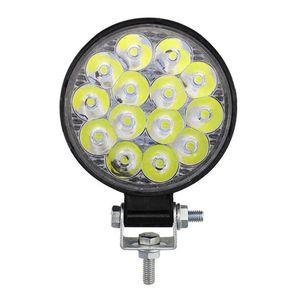 Car Headlights 42W Round LED Work Light Spotlight Bar For 4x4 Offroad Fog