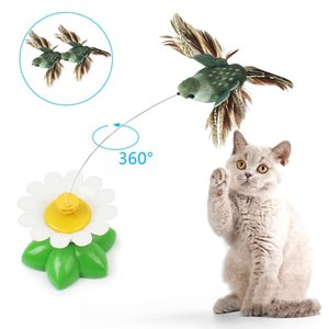 Cat Toy Electric Rotating Colorful Butterfly Bird Funny Dog Cat Toys Pet Seat Scratch Toy Pet Dog Cat Intelligence Trainning Toy
