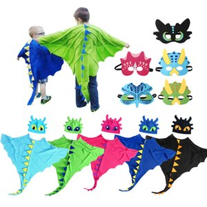 DHL Christmas Halloween Cute Children's dinosaur show performance cloak hat mask cosplay costume Holiday gifts toy Party Prom Props surprise wholesale In Stock