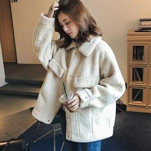 Women Teddy Coat Autumn 2020 Plush Winter Faux Fur Jacket Coat Women Turn-down Collar Plus Size Overcoat
