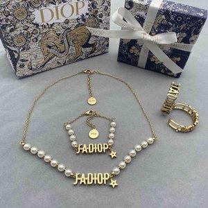 2021 Luxury Designer Jewelry new star Pearl Necklace Bracelet