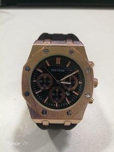 Wholesale Relojes para hombre Diseño clásico Hombres Reloj Movimiento de cuarzo Deporte Reloj de pulsera Reloj de regalo Cómodo Cuerma Correa Orologio
