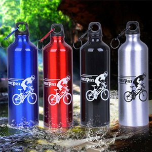 Water Bottles & Cages 750ml Cycling Camping Bottle Bicycle Outdoor Sports Aluminum Alloy Portable Metal Drink Cup