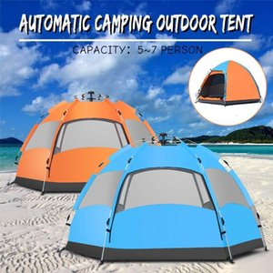 Waterproof 5-8 People Automatic Instant -Up Camping Tent Family Hiking Tent Anti UV Awning Tents Outdoor Sunshelter