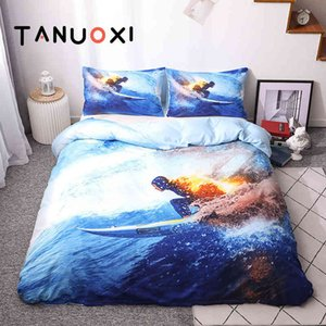 2 3pcs Sports Mountain Motorcycle Paragliding Racing Surfing Duvet Cover Pillowcase Queen King Size Bedding Set No Bed Sheet